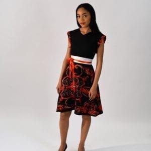 La robe Camille imprimée